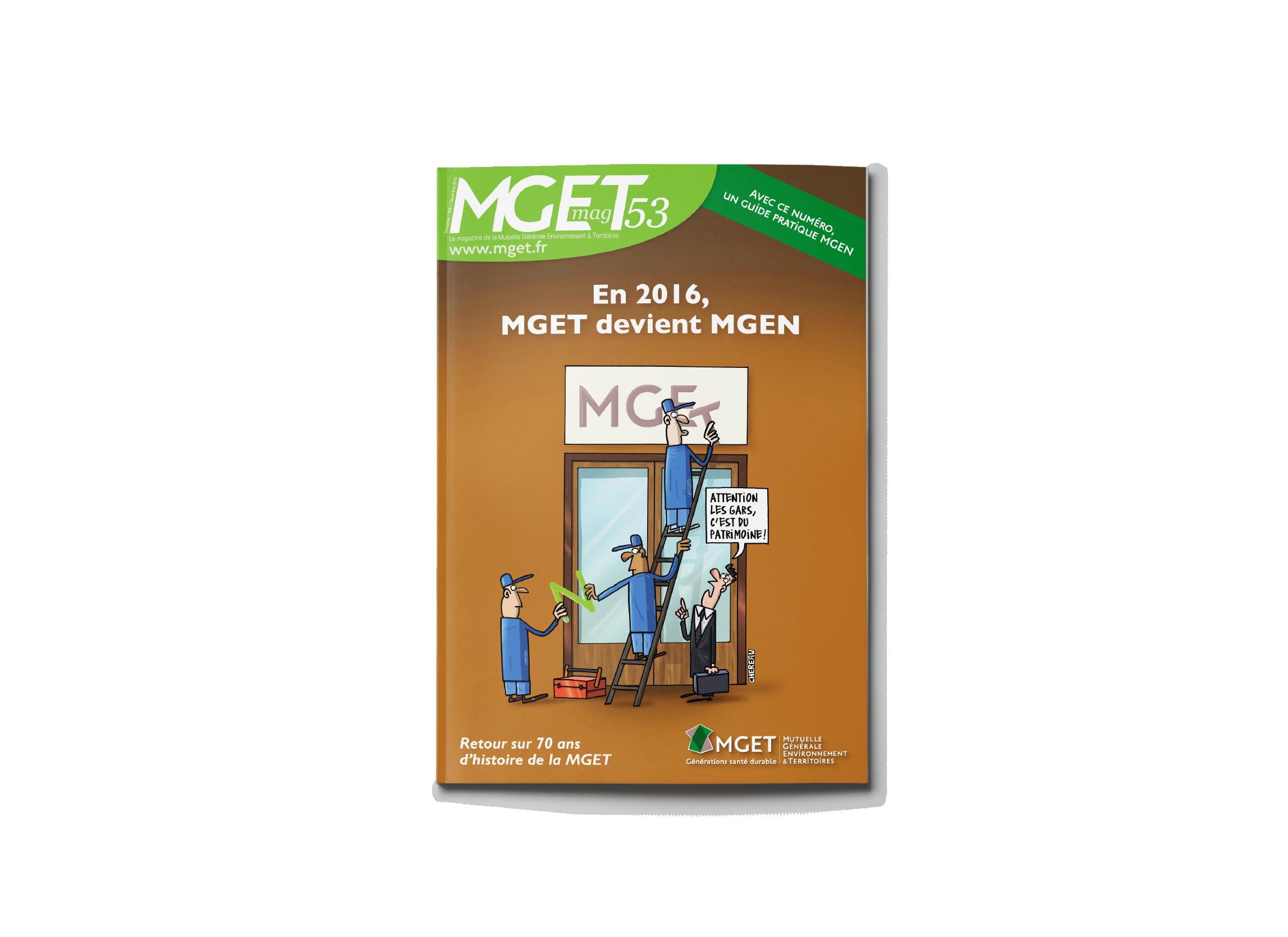 mget magazine mise en page