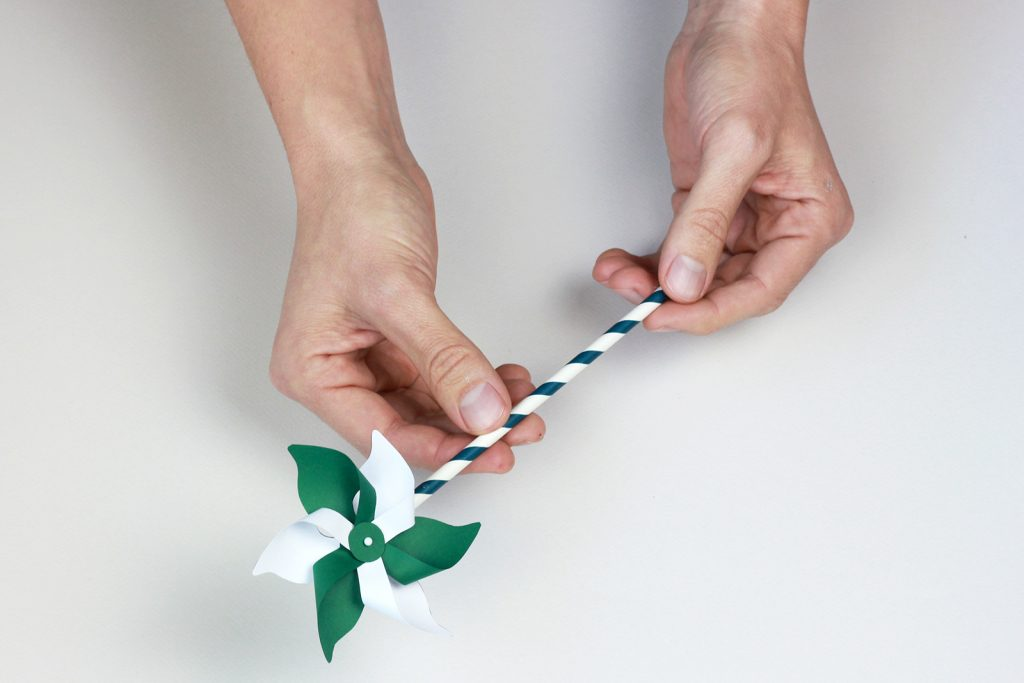 DIY paper art moulin à vent