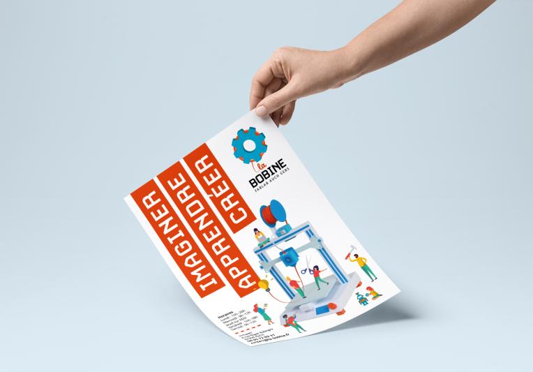 logo bobine fablab flyer