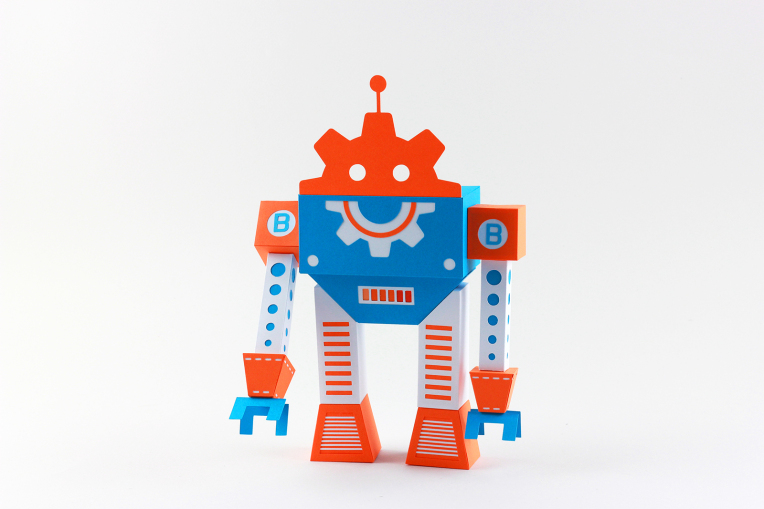 logo bobine fablab paper art robot
