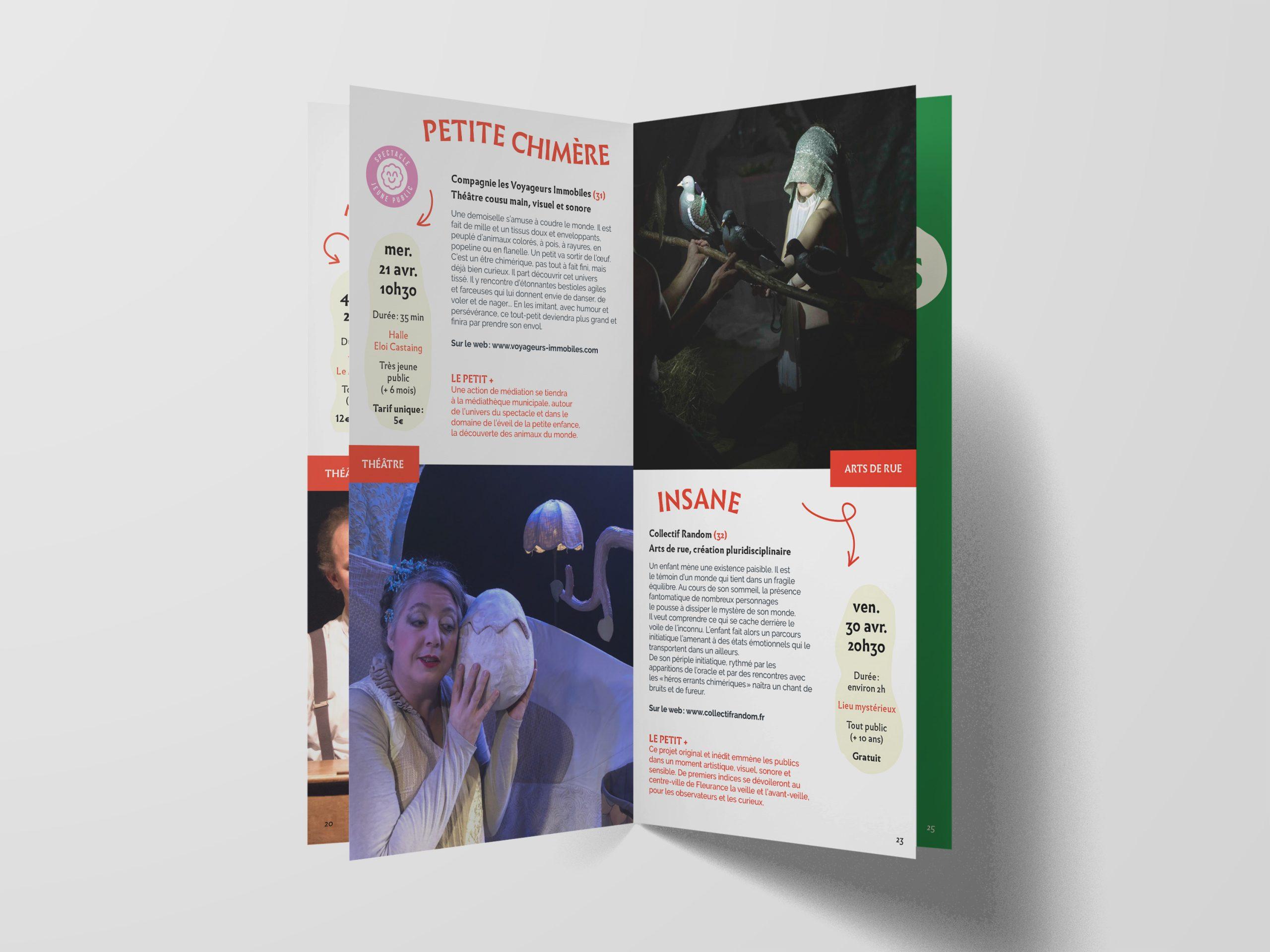 brochure culturelle de la ville de Fleurance Gers graphisme illustration
