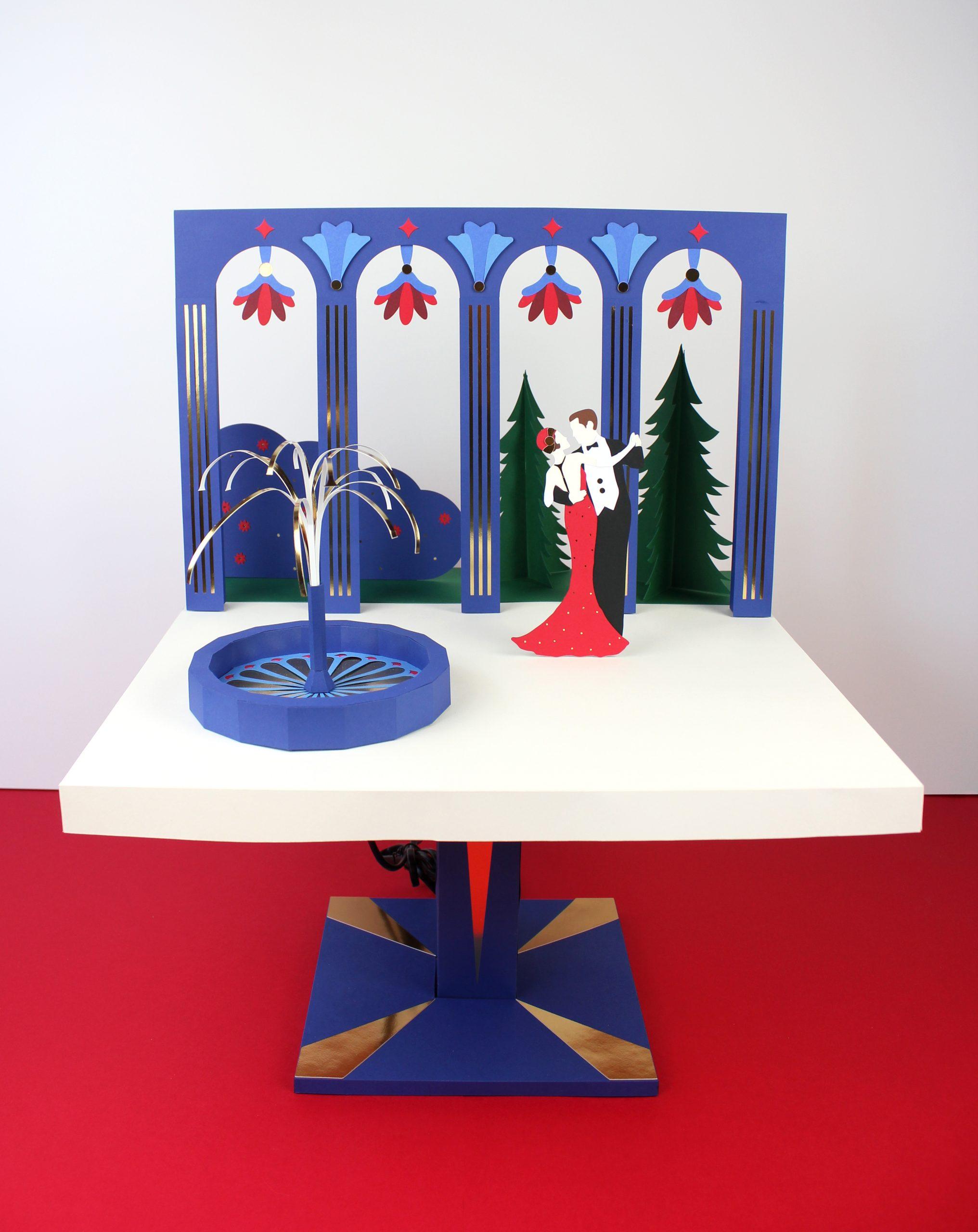 vitrine Noël Santa Rosa Toulouse Paper Art illustration