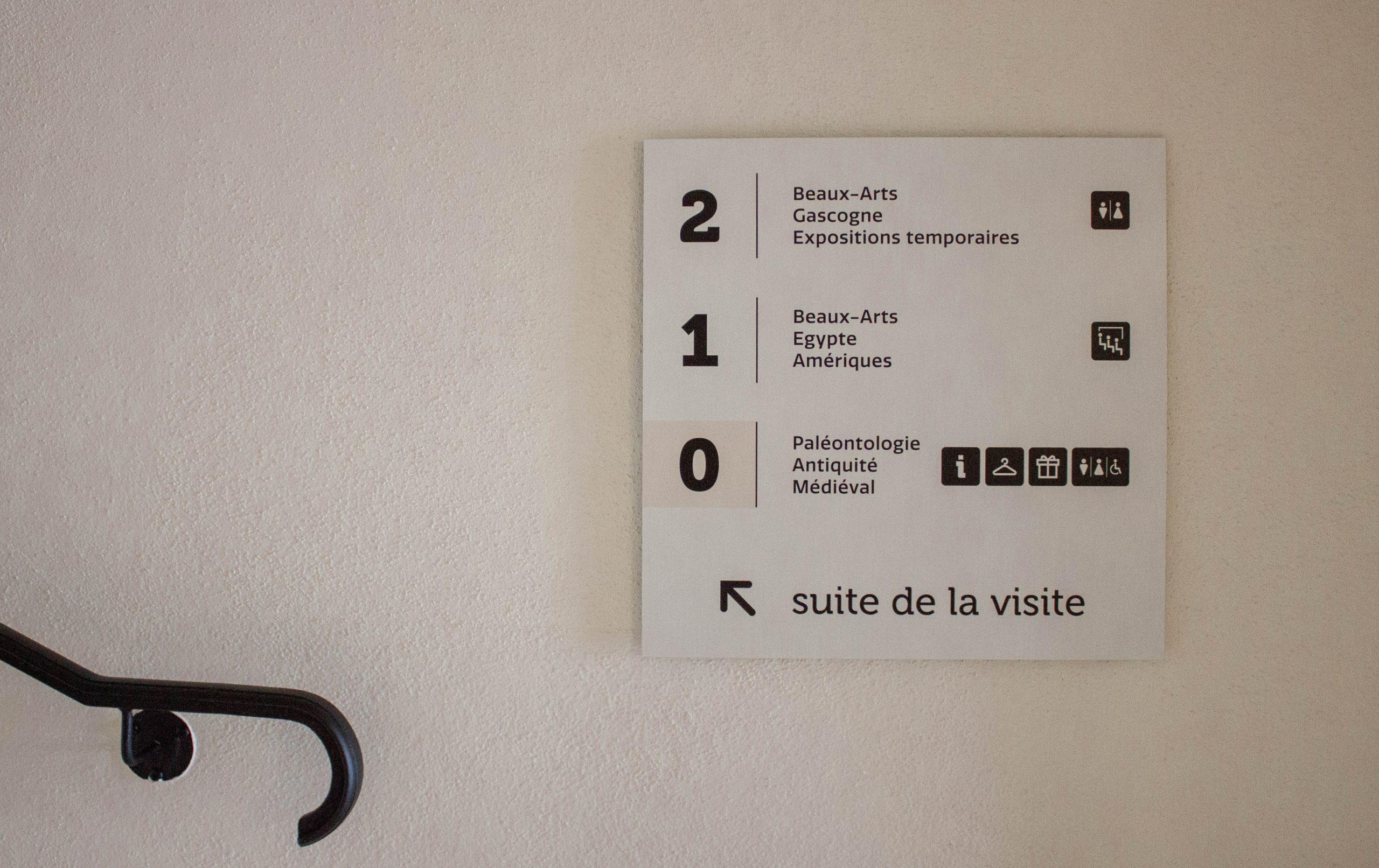 musée amériques auch signalétique
