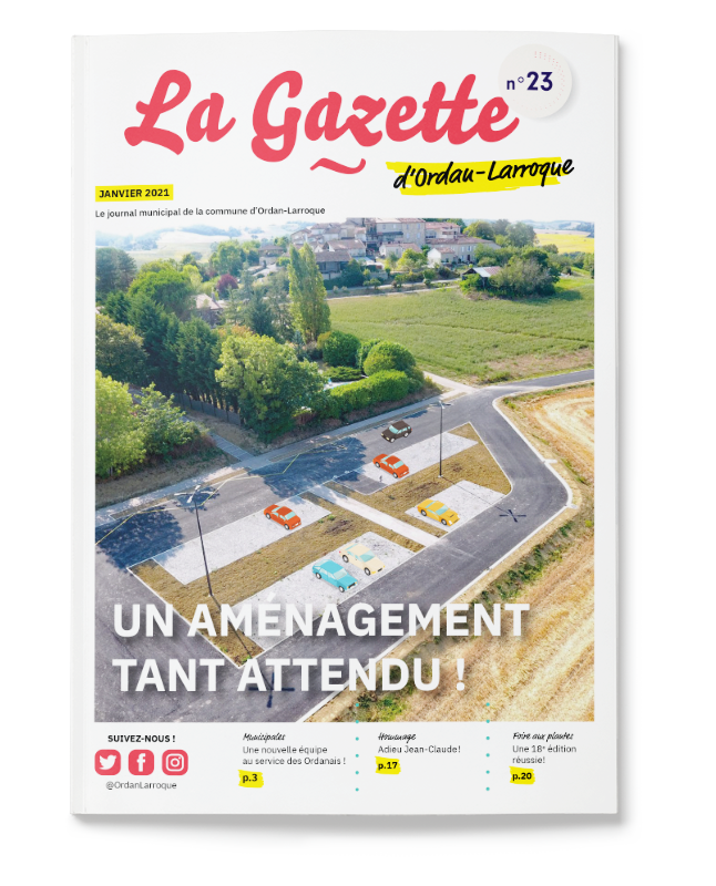 graphisme mise en page Jordan gazette journal municipal