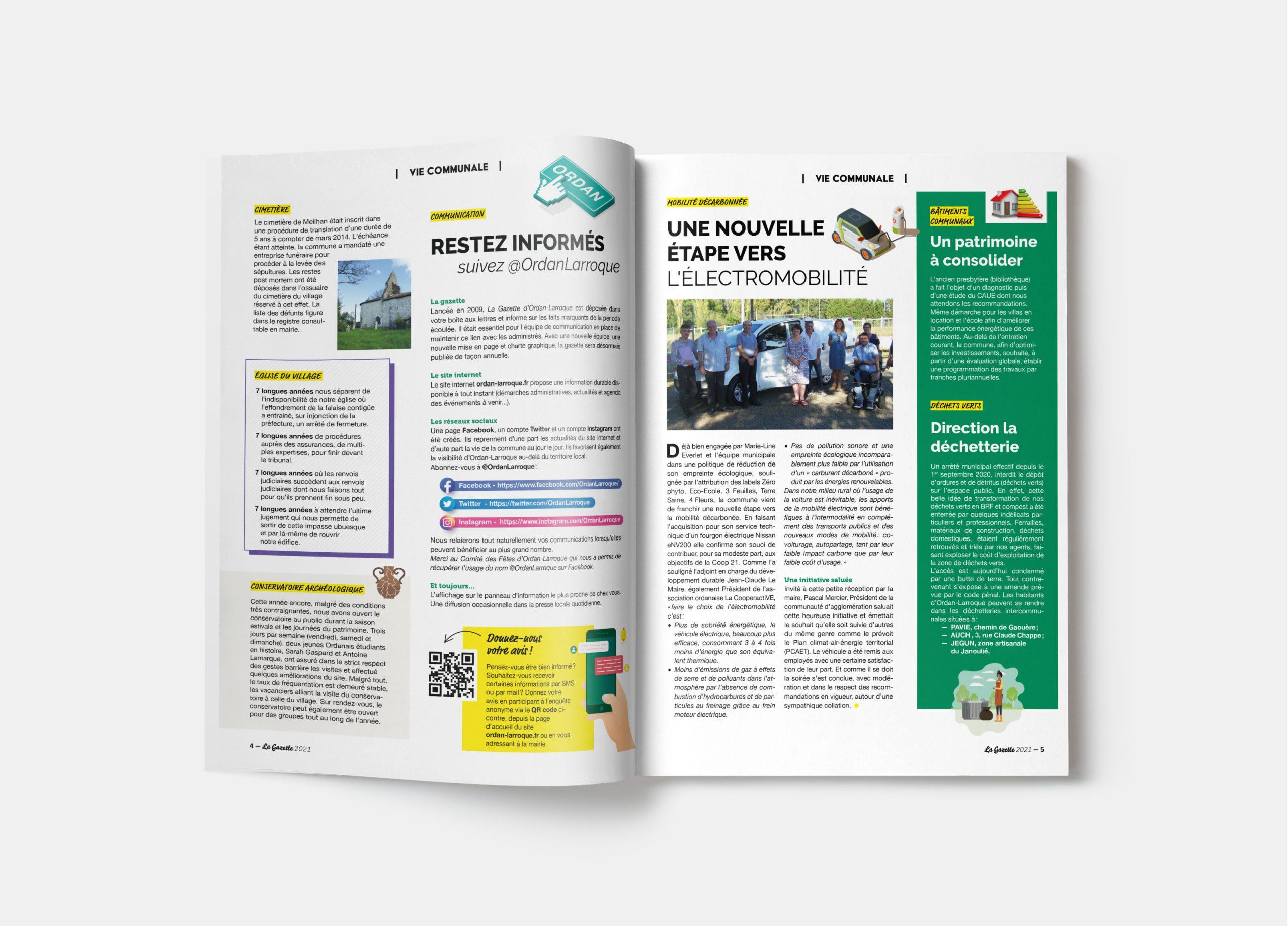 mise en page graphisme magazine municipal gers