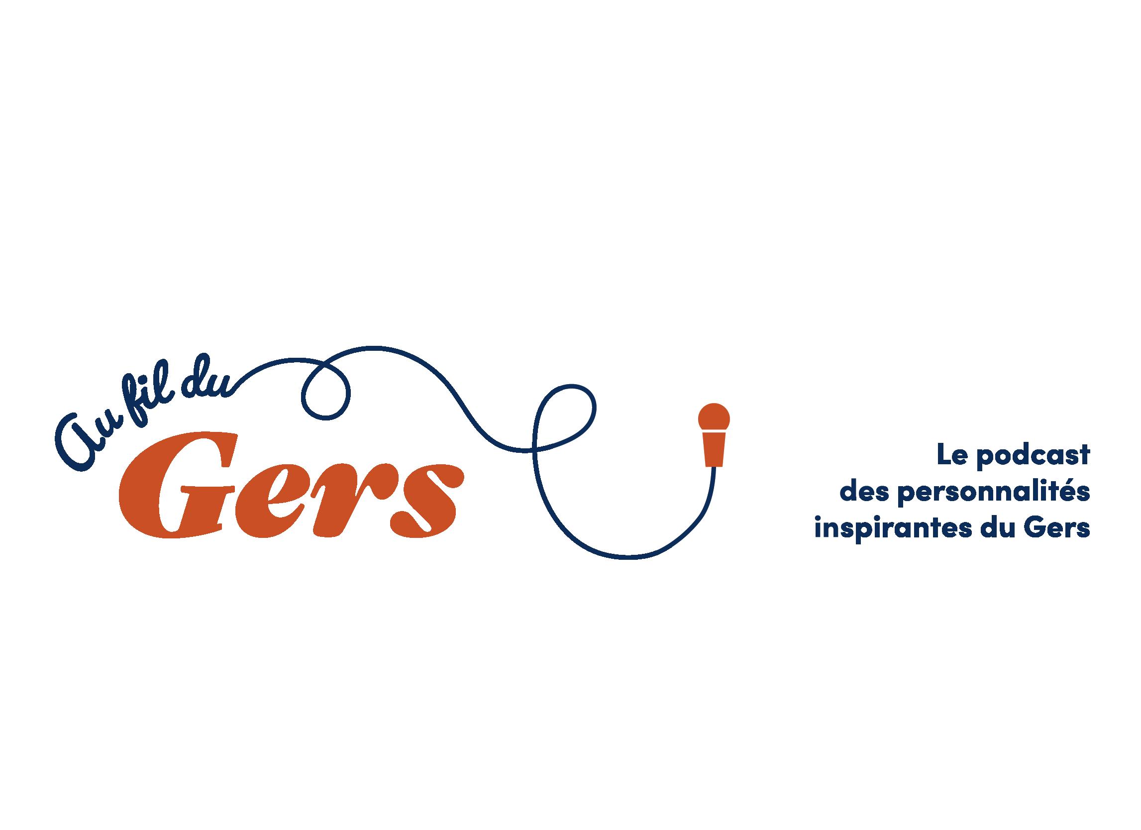 logotype au fil du gers podcast