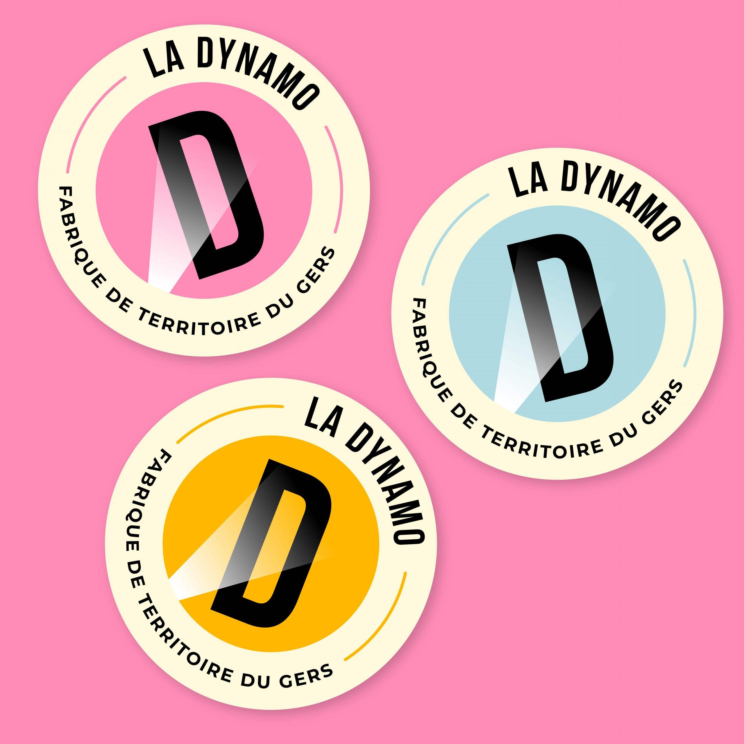 la dynamo tiers lieu fablabs gers auch identité visuelle logotype barreau