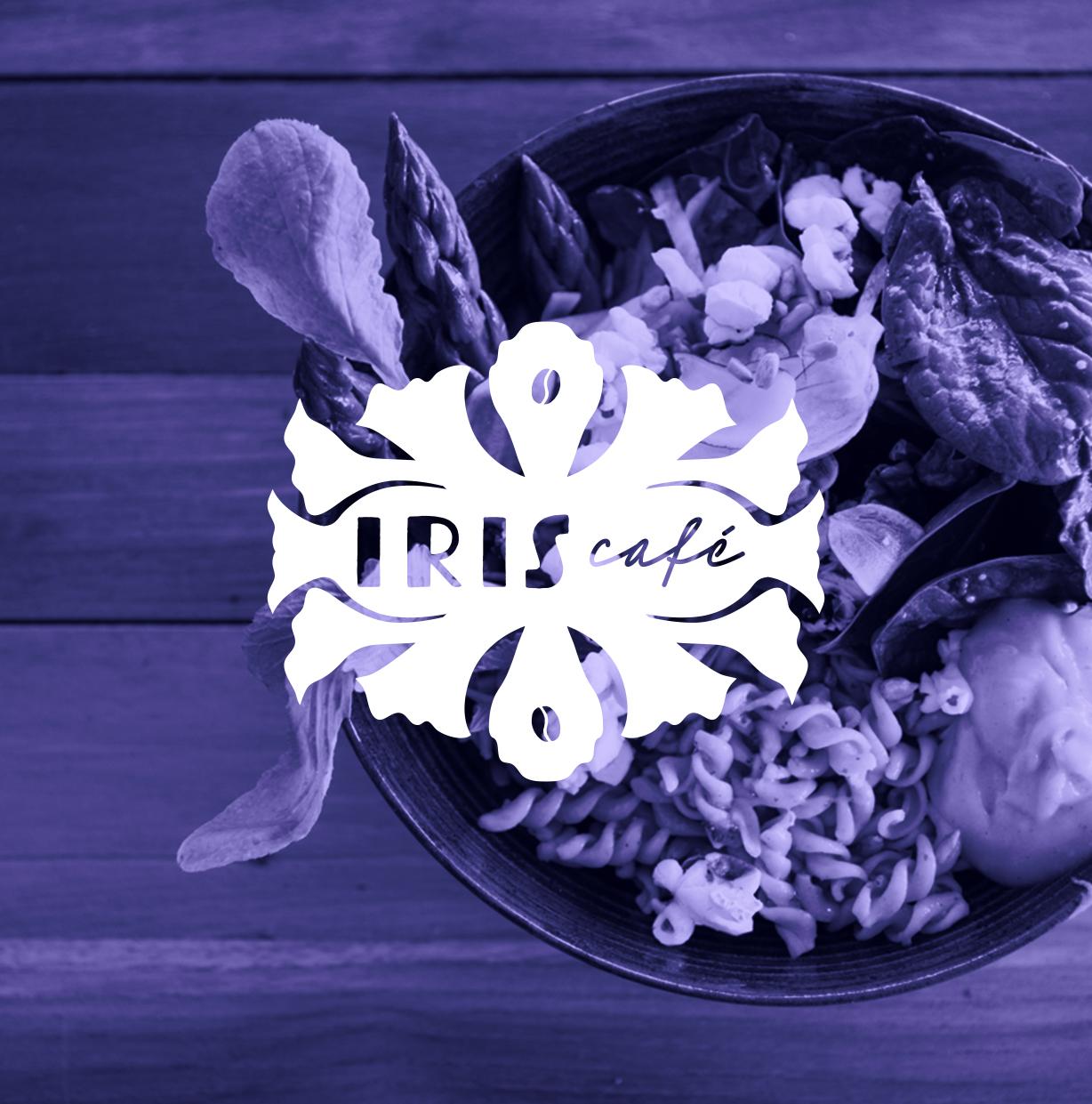 iris café Bardigues logotype identité graphique