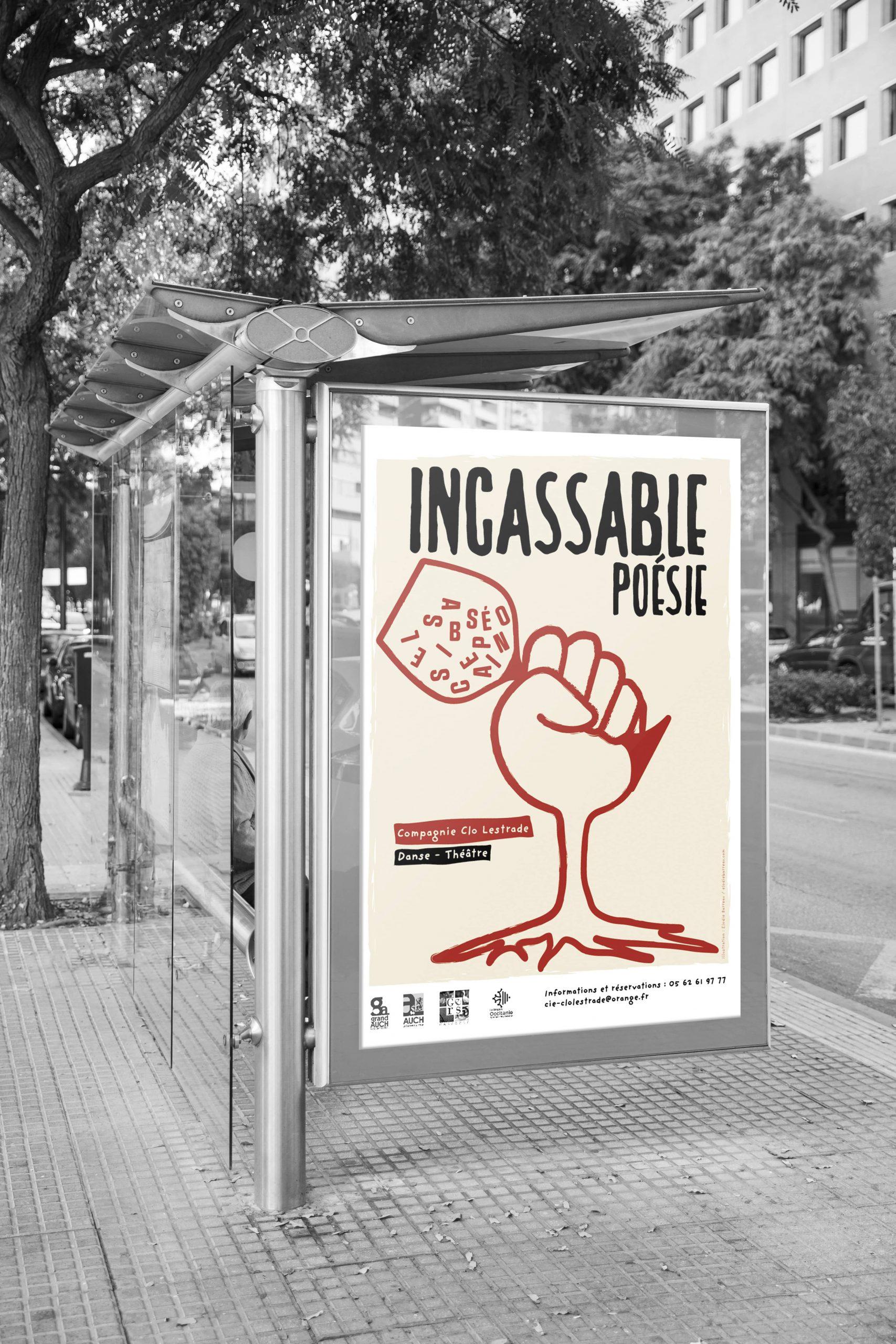 affiche poster compagnie Clo Lestrade Incassable poésie